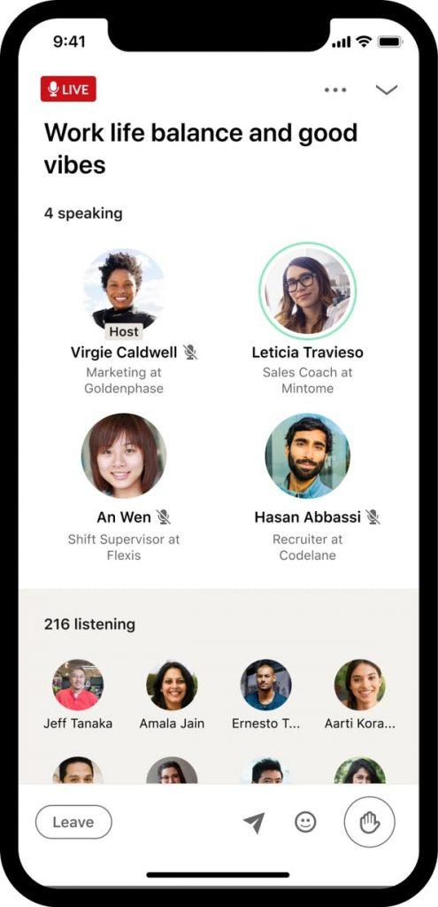 Stanze audio Linkedin
